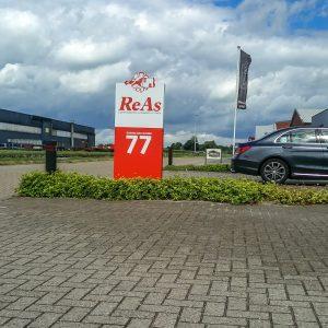 Reclamezuil, bewegwijzering, Twente, Vriezenveen, ReAs, as paint,