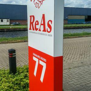 Reclamezuil, Twente, Vriezenveen, ReAs
