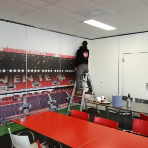 Wandvisual, Muurvisual, Geprint behang, FC, Twente, Full color