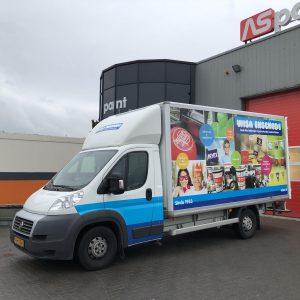 belettering, reclame bakwagen, reclame, sign, bakwagen, Enschede, Vriezenveen, Twente