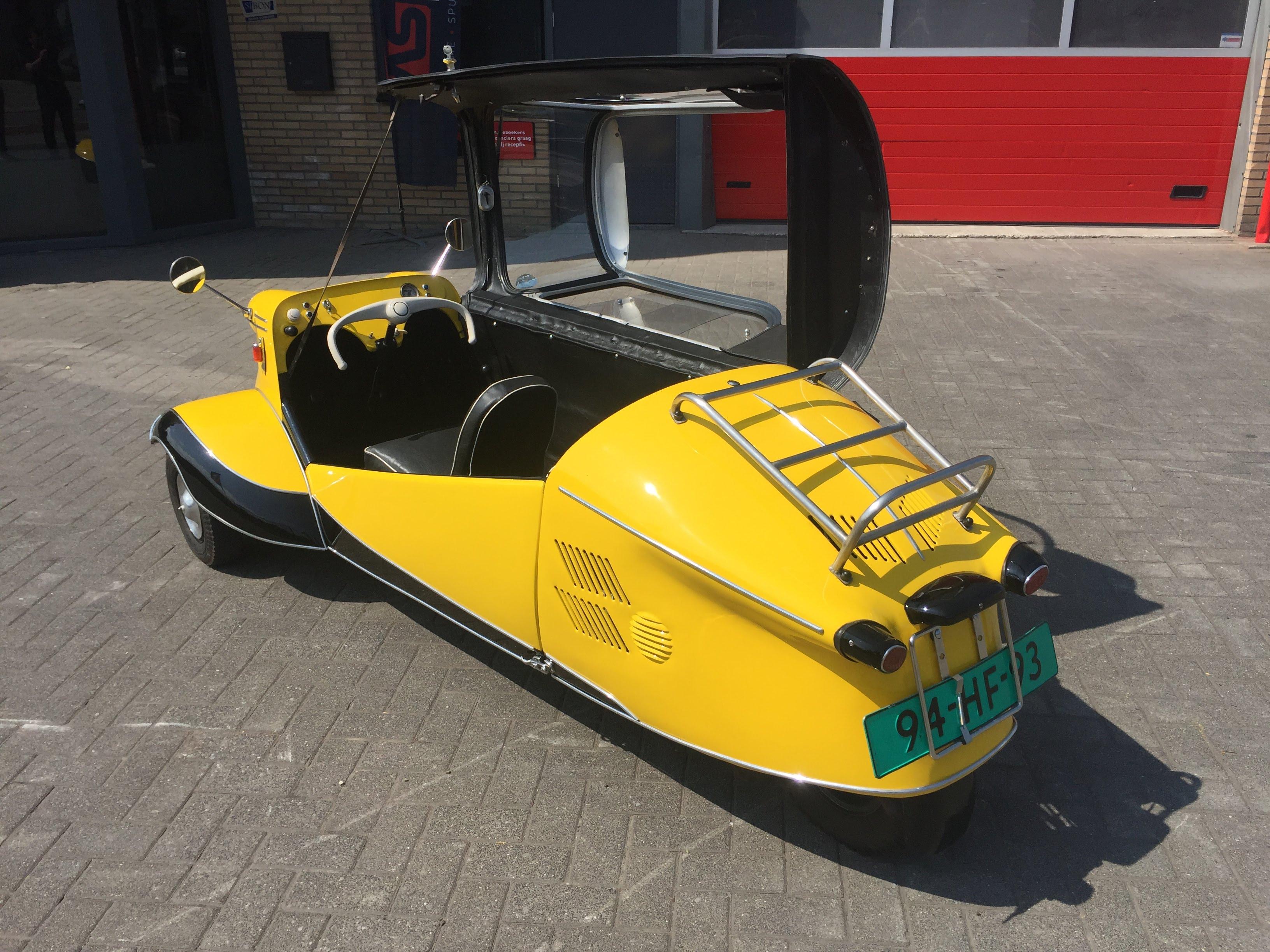 Spuiten, natlak, plamuren, Messerschmitt, auto, Vriezenveen, Twente