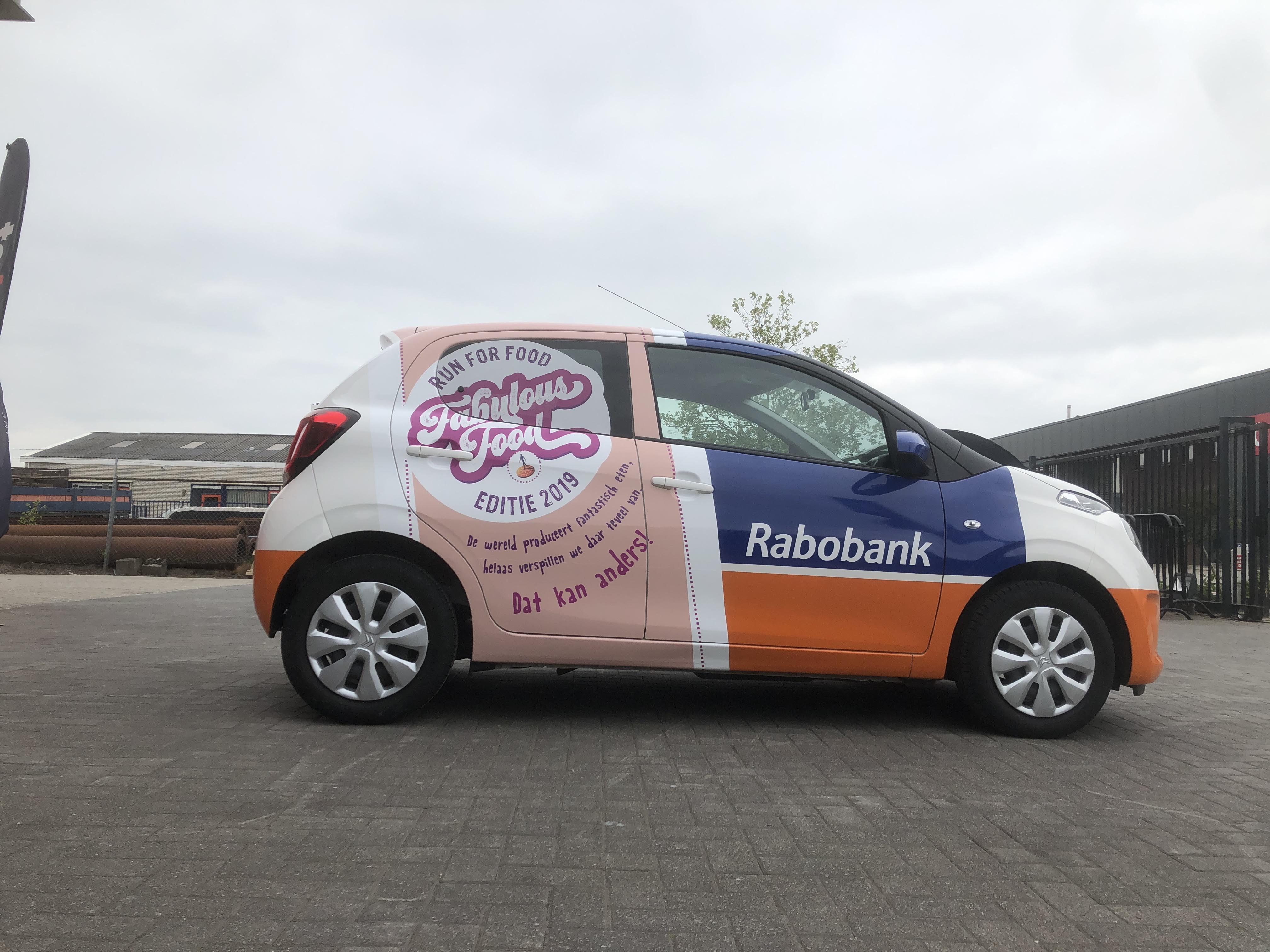 Autobelettering, carwrap, Rabobank, Citroën C1, reclame, sign, Twente