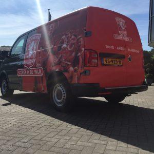 carwrap, carwrapfolie, belettering, stickers, folie, sign, reclame, Twente, FC Twente, AS Paint, Vriezenveen,