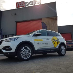 Autobelettering, reclame, sign, voertuig reclame, autobelettering, print, folie, Kamp Twente, Opel, Vriezenveen, Twente, Almelo, Hengelo