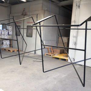 Poedercoaten, stralen, coating, spuiten, duurzaam, stoelframe, stoel, Twente, AS Paint, Löwik Meubelen,