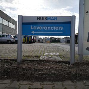 bewegwijzering, outdoor, frame, paneel, aluminium, Huisman, Vroomshoop, Twente, AS Paint, Vriezenveen, Twenterand