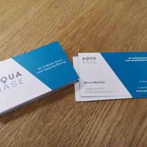 Drukwerk, visitekaartjes, ontwerpen, grafisch, AquaBase, AS Paint