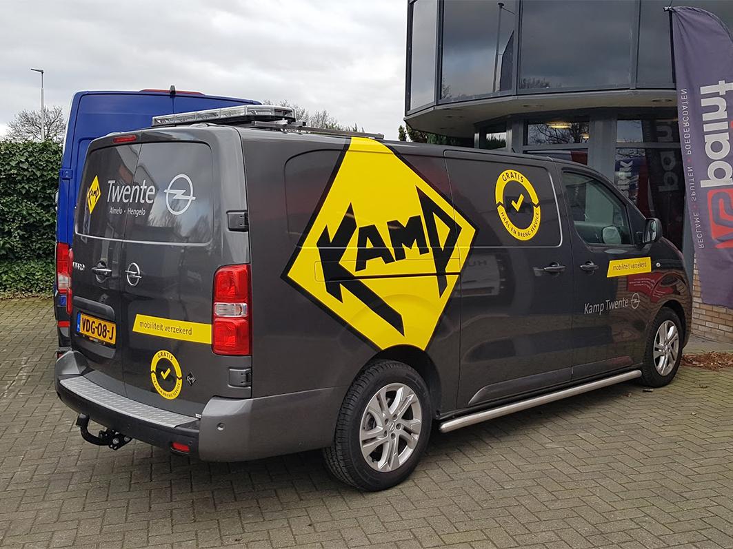 Kamp, Twente, Kamp Twente, Opel, Opel Kamp, Vivaro, AS, AS Paint, Vriezenveen, Almelo, Opmaak, Belettering